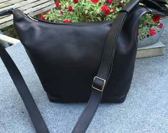 Matte black shoulder bag