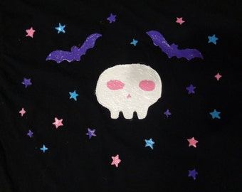 Pastel Goth Hand Painted Tshirt