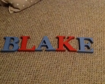 Chunky wooden letters