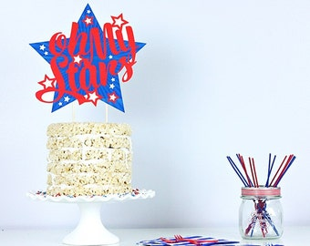Oh My Stars 4th of July Cake Topper