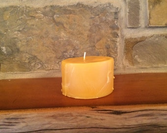 Lg Beeswax Candle - A Wise Choice Circular Candle