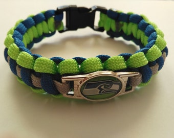 NFL Seattle Seahawks Paracord Bracelet with Charm