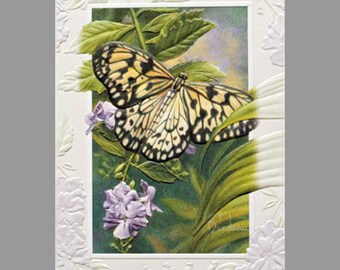 Embossed Garden Note Cards - Blank Inside - 9 cards and envelopes in gift box