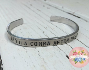 Hamilton Musical Handstamped Bracelet - With a comma after dearest - Gift for her - Christmas gift - Broadway Gift