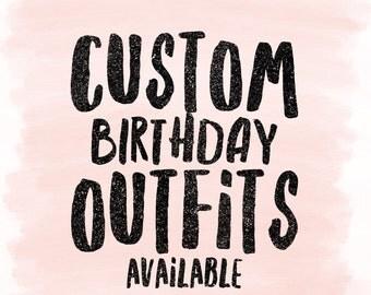 Custom girls birthday outfits- tutu, ribbon tutu