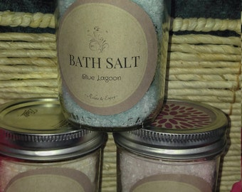 3 Pack Homemade Bath Salts