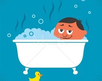Bath Tub Clip Art Etsy
