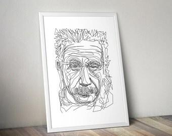 Albert Einstein - One Line Poster