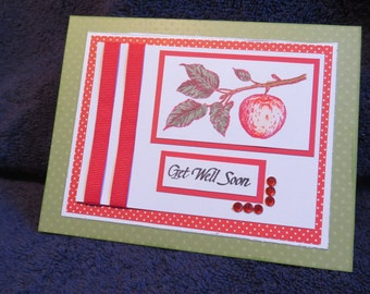 Handmade Greeting Card - Get Well Soon