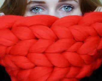 Cowl made of merino wool
