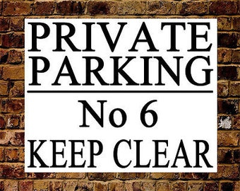 Personalised Large Metal Private NO PARKING Keep Clear Sign Waterproof