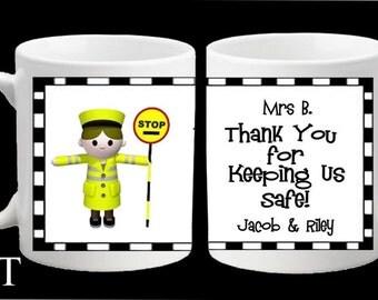 Personalised Lollipop Lady Man Thank you Mug Teacher Gift Present