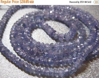 ON SALE Tanzanite Faceted Gradauted Roundel Beads 280pcs 3-4mm