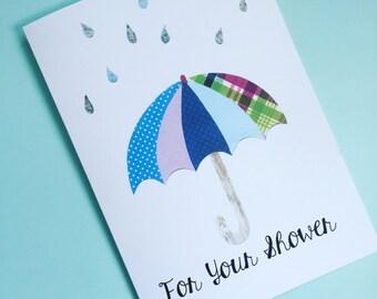 Umbrella For Your Shower Card, Baby Shower, Bridal Shower