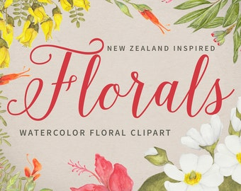 FLORAL CLIPART - New Zealand Inspired