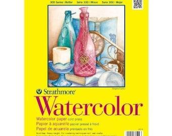 Strathmore 300 Series Watercolor Pad 140 lb 9x12
