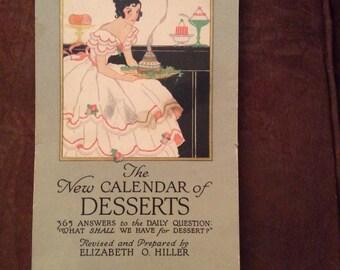 The New Calender of desserts, Elizabeth O. Holler, cookbook, dessert calender, dessert cookbook