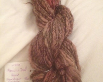 Autumn Handspun Art Yarn Alpaca+Texel Blend Wool 100g Skein