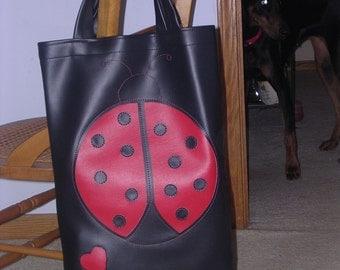 Large Lady Bug Library Bag