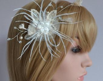 Bridal flower fascinator Bridal tiara flower