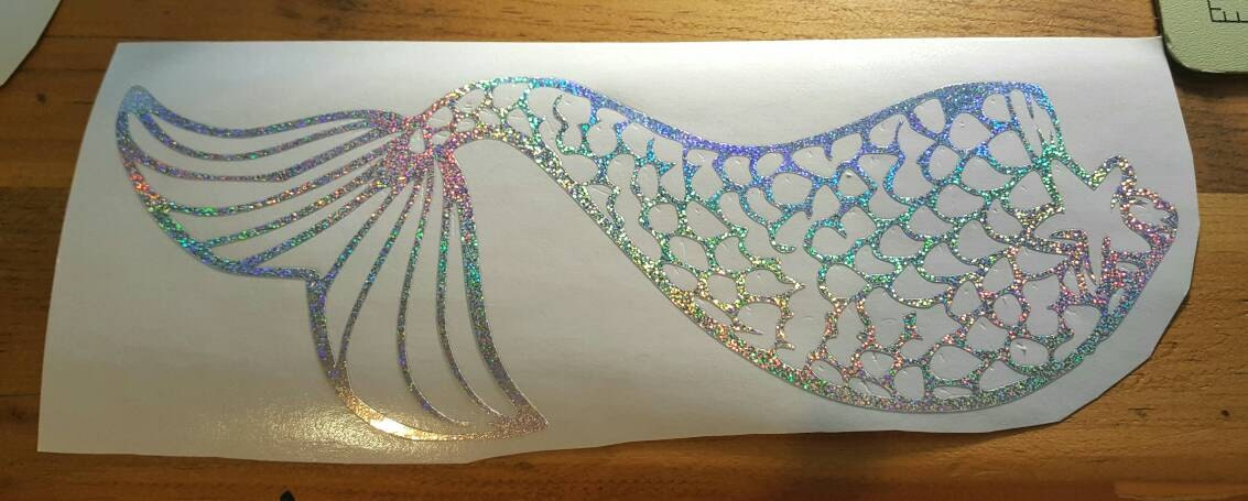 Holographic Mermaid Tail Only Mermaid Life Rainbow Decal Car