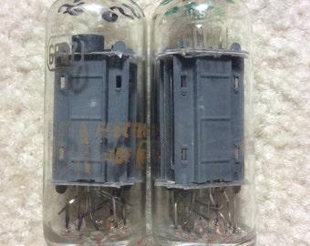 Matched Pair RCA 6FQ7 6CG7 Clear Top Tubes
