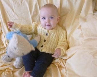 Baby, toddler, preschooler cable sweater