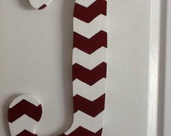 J-Hand Painted Custom Wooden Letter Door Hanger
