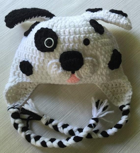 Crochet Dalmatian Dog Hat Dalmatian Puppy Hat Character Hat