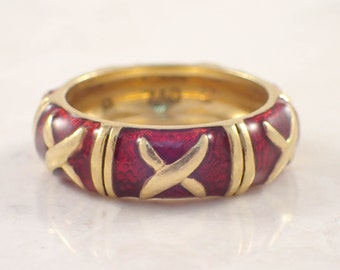 18K Yellow Gold Hidalgo Enamel Band