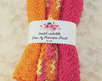 Crochet Washcloth - Crochet Cotton Washcloth - Cotton Dishcloth - Washcloth - Dishcloth - Crochet Cotton Dishcloth - Wash Cloth - Dish Cloth