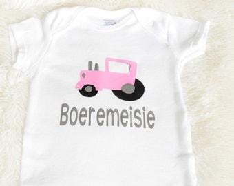 Boeremeisie babygrow,Boeremeisie onesie,Afrikaans onesie,South African,cute onesie,South African baby,