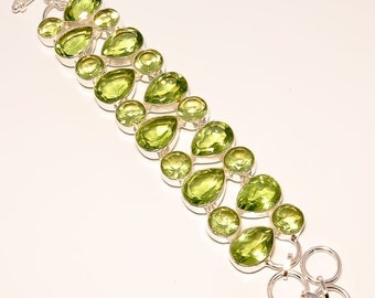 Peridot Bracelet Sterling Silver