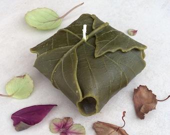 Elven Lembas Candle (Olive Green) - Yeşil Doğa Yaprak Mum