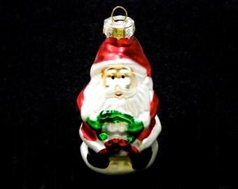 20% OFF *** VINTAGE: Santa Mercury Ornaments - Christmas Ornament - Hand Painted Ornament - (Tub-00006286)