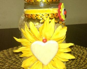 Coffee/sugar decorated  jar