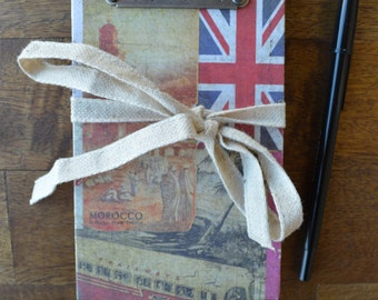 Vintage Inspired Accordion Travel Journal
