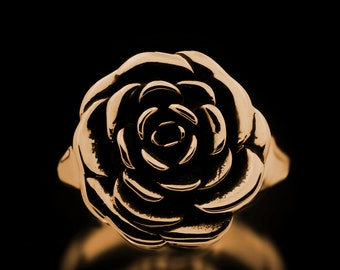 Rose Ring Brass Flowers Roses Jewelry