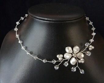"Bridal Necklace ""Liliana"""