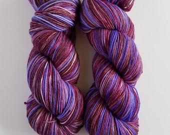 TONKS- Hand Dyed Superwash Sock Yarn- Hand Dyed Superwash Merino Nylon- 462 yards