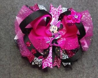 Minnie mouse OTT Hairbow