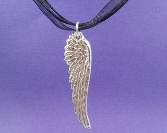 ANGEL WING (small) Pendant, fine silver