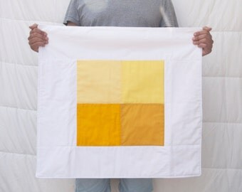 "Yellow Hues 26""x26"" Quilt"