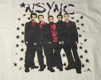 white n'sync t-shirt youth lg