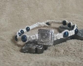 Silver spiral charm bracelet