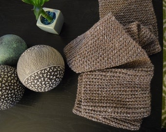 Brown and Grey Scarf