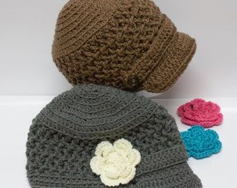 Newsboy Crochet Hats