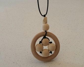Woody Beads - Nursing Necklace,Teething Necklace, Sensory Necklace,Baby Shower Gift