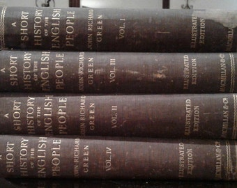 1902 Vintage Books - short history of the english people by john richard green 1902