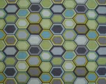 Jay McCarroll Woodland Wonderland Afghan Hexagon Green fabric JY10- Green